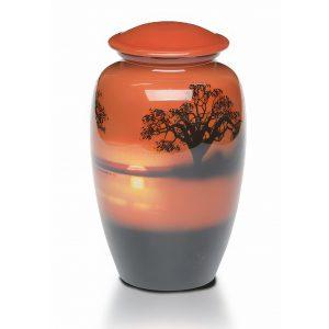 Alloy Sunset Urn
