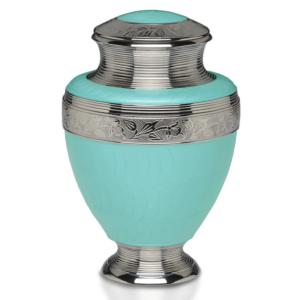 Nickel Plated Brass Urn