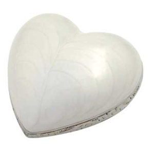 Silver Pearl Heart